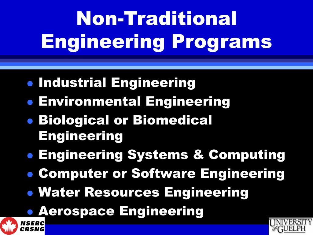 Non-Traditional Engineering Programs