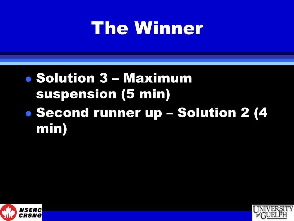 The Winner