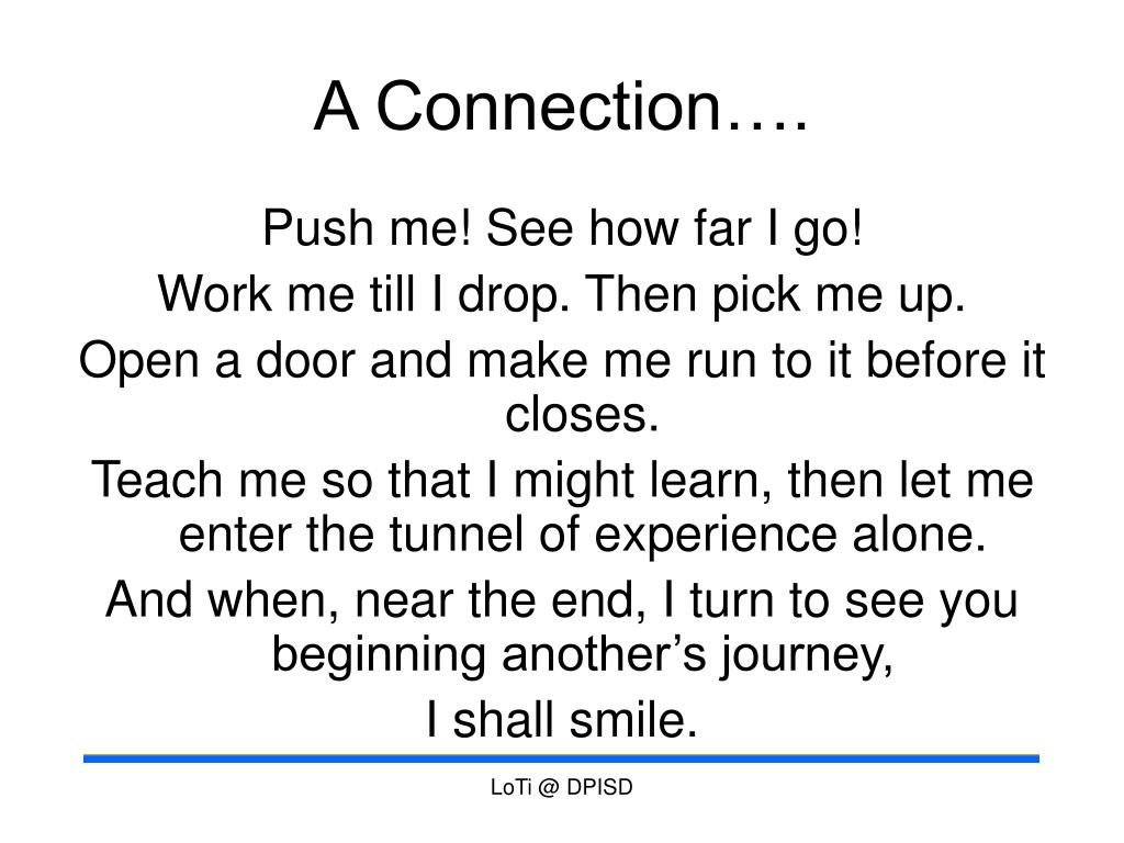 A Connection….