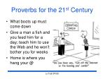 proverbs for the 21 st century