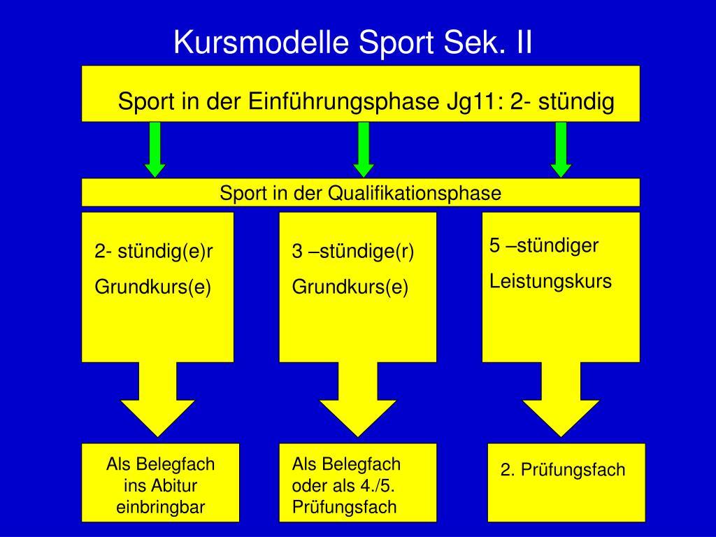 Kursmodelle Sport Sek. II