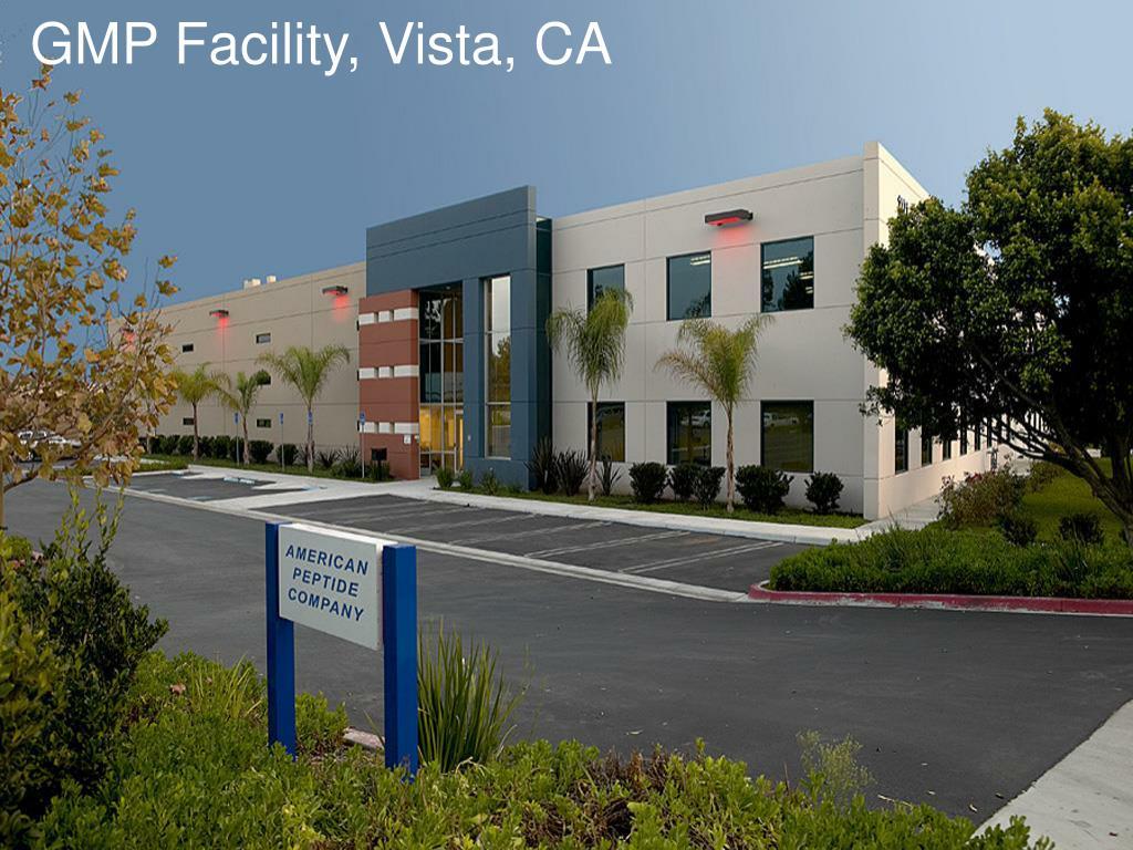 GMP Facility, Vista, CA