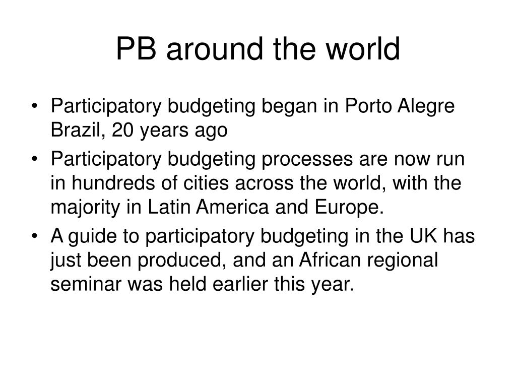 PB around the world