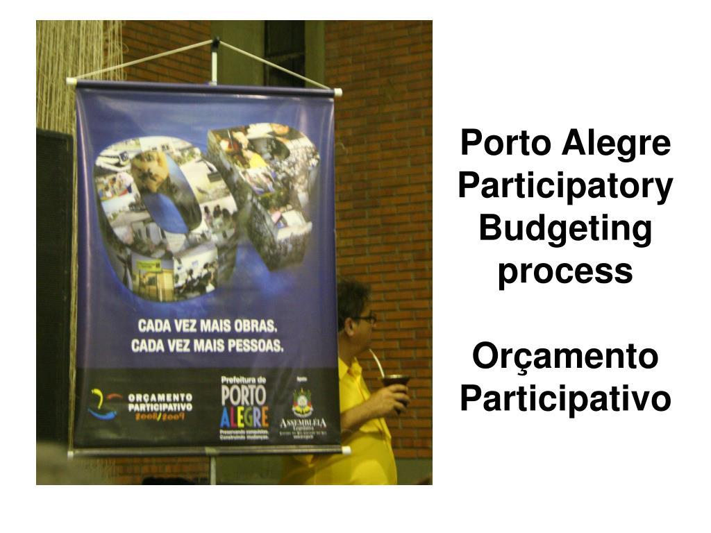 Porto Alegre Participatory Budgeting process
