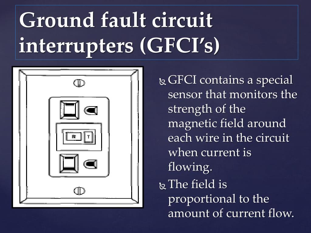 Ground fault circuit interrupters (GFCI's)
