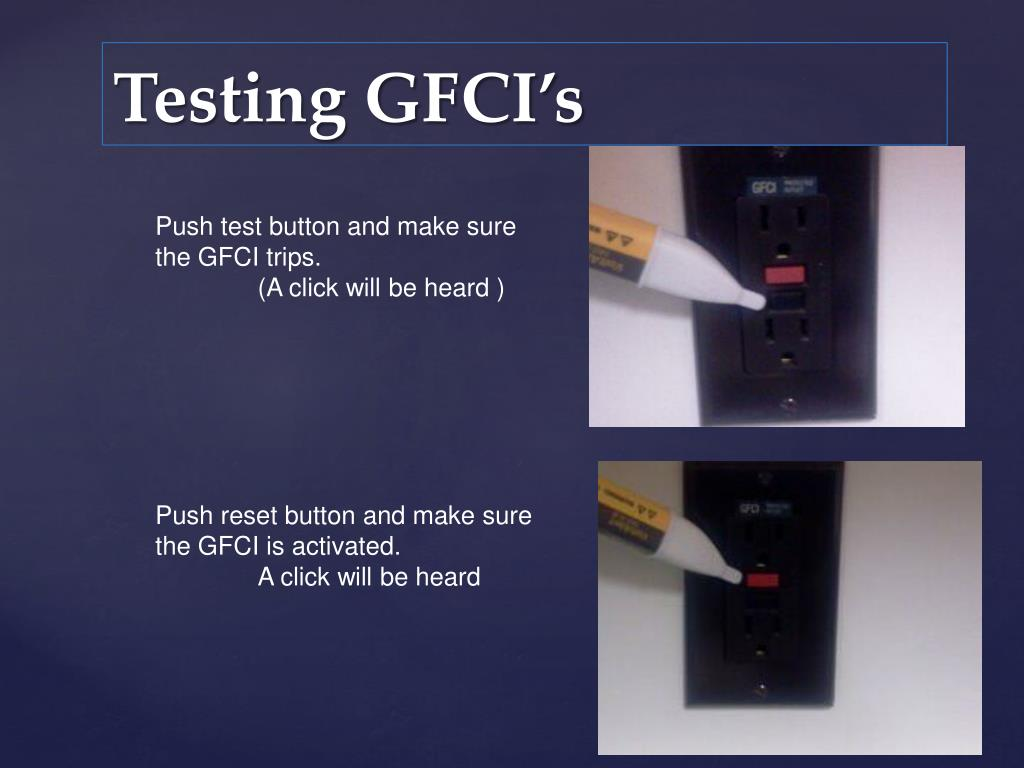 Push test button and make sure the GFCI trips.