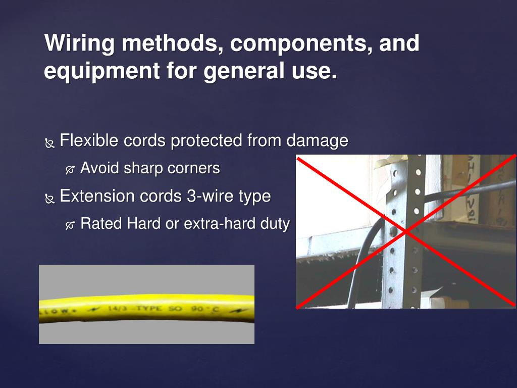 Flexible cords protected from damage