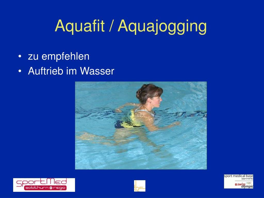 Aquafit / Aquajogging