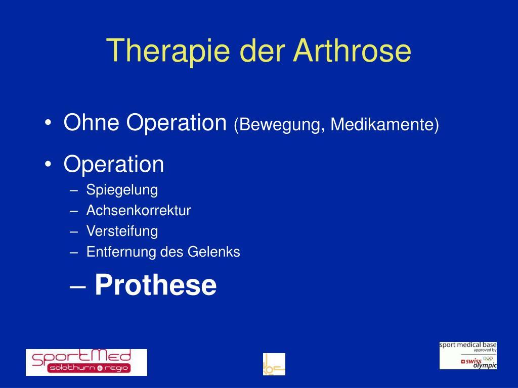 Therapie der Arthrose