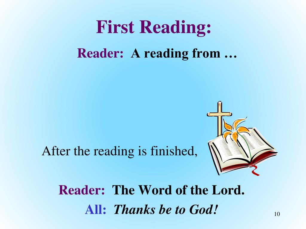 First Reading: