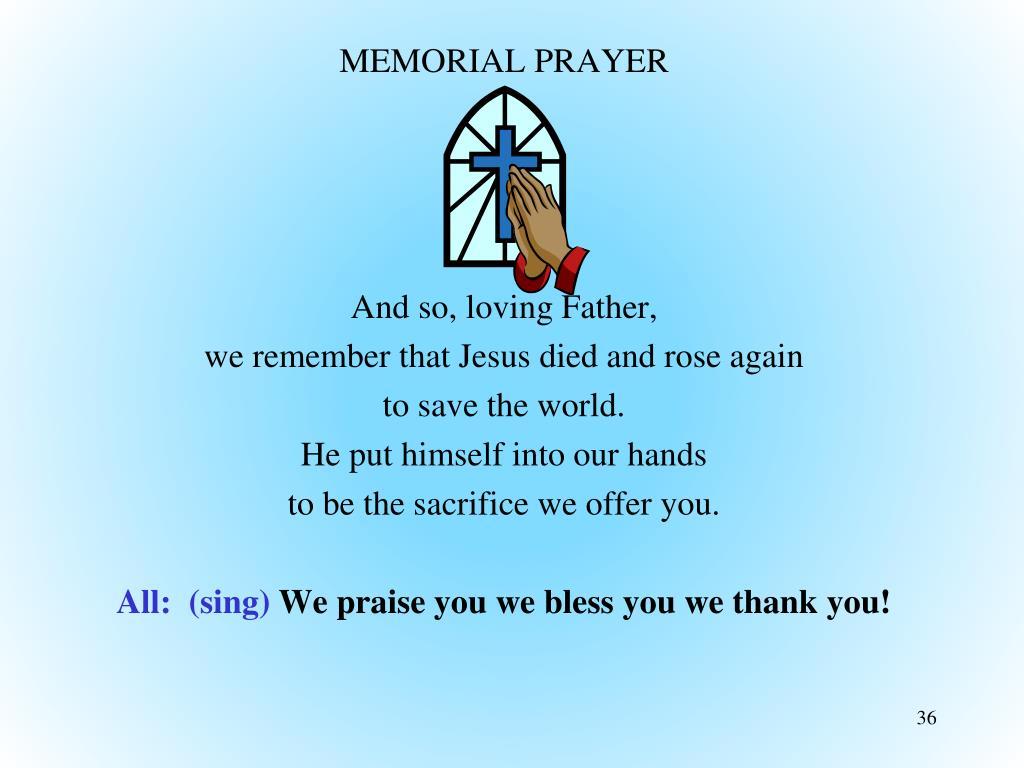 MEMORIAL PRAYER