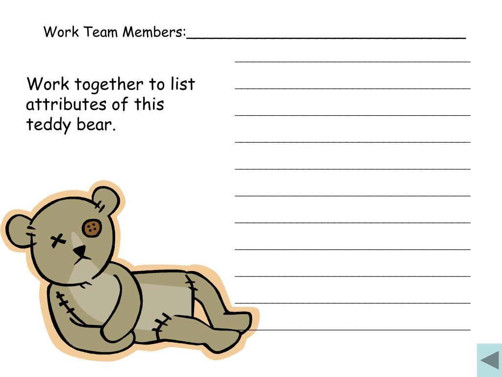 Work Team Members:________________________________