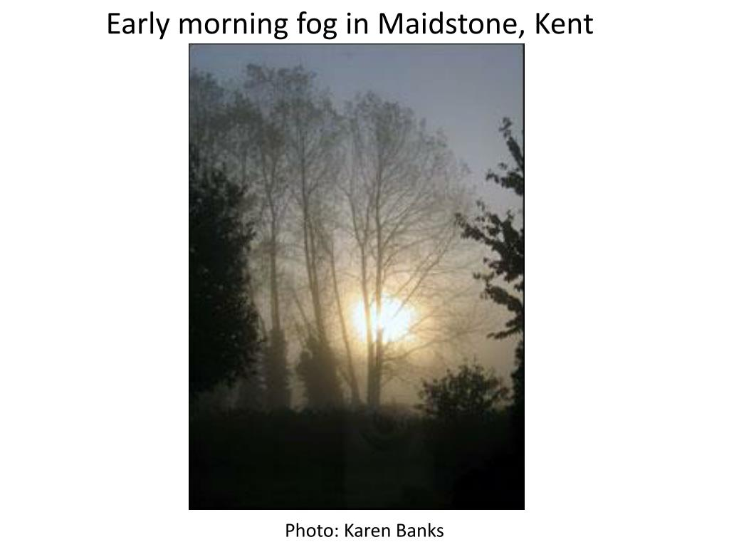 Early morning fog in Maidstone, Kent