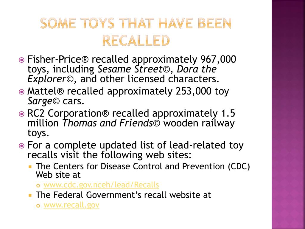 Some Toys that Have Been Recalled