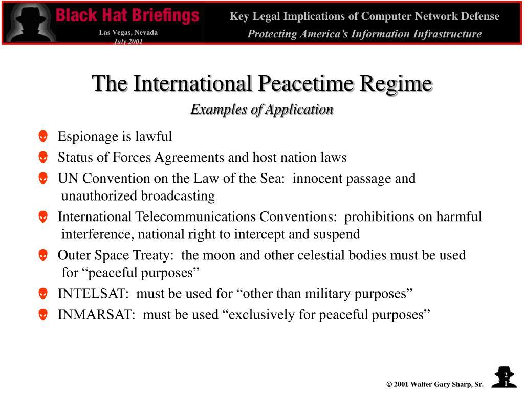 The International Peacetime Regime