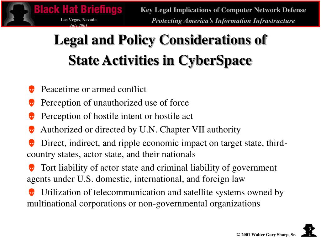 Legal and Policy Considerations of