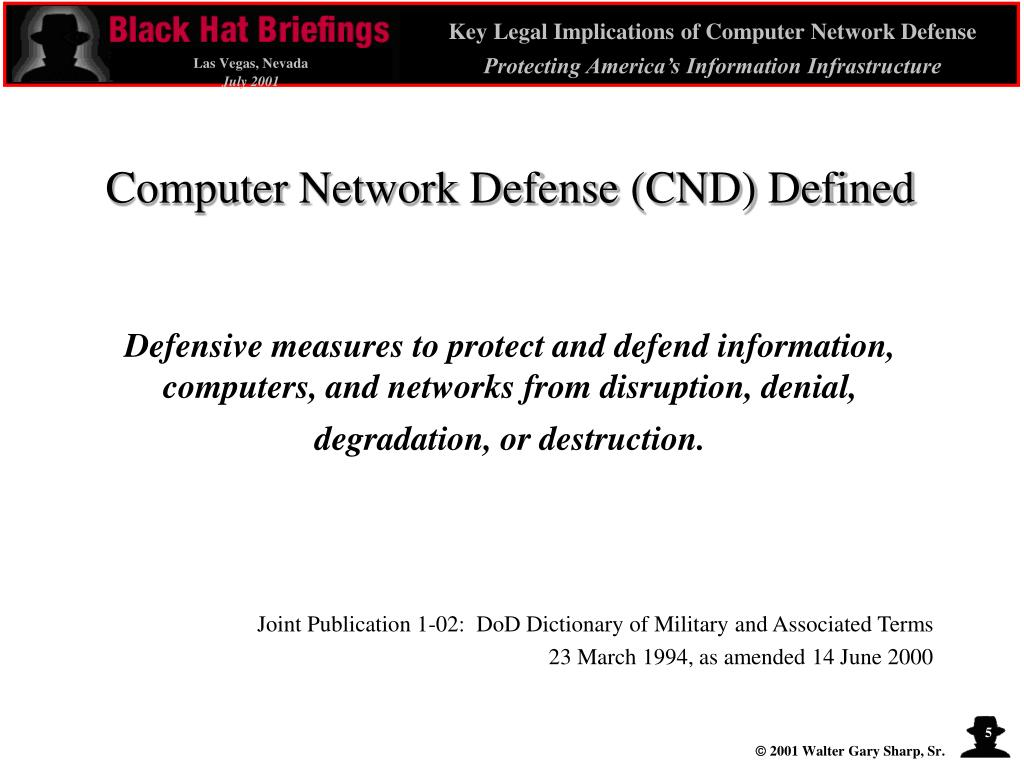Computer Network Defense (CND) Defined