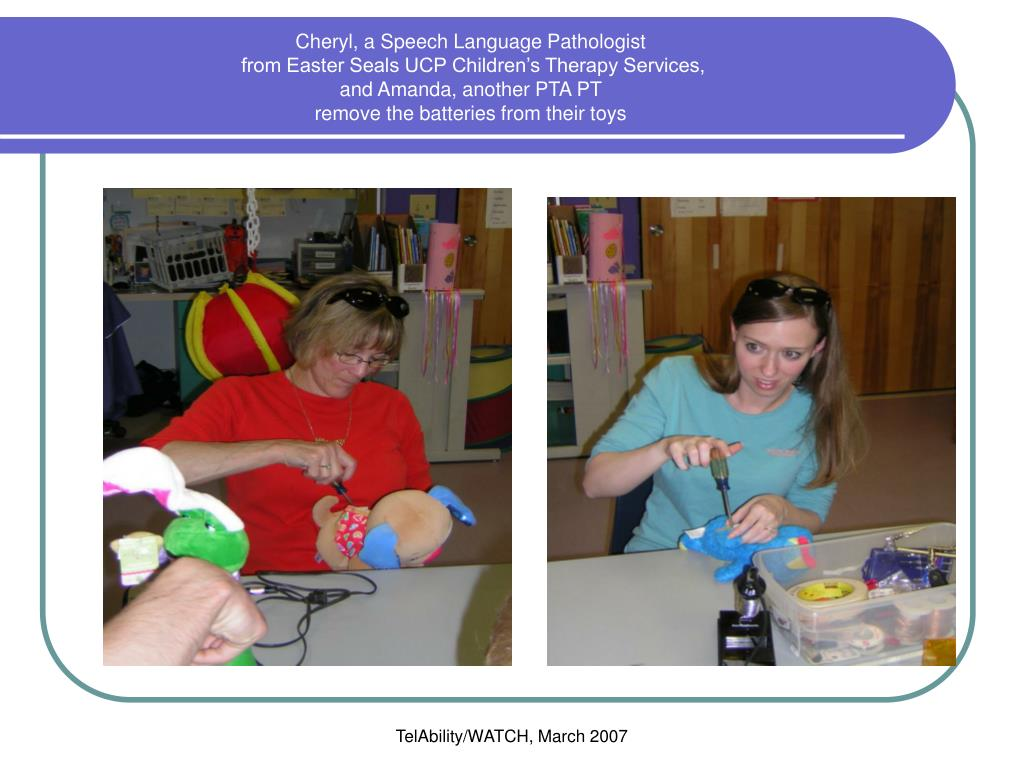 Cheryl, a Speech Language Pathologist