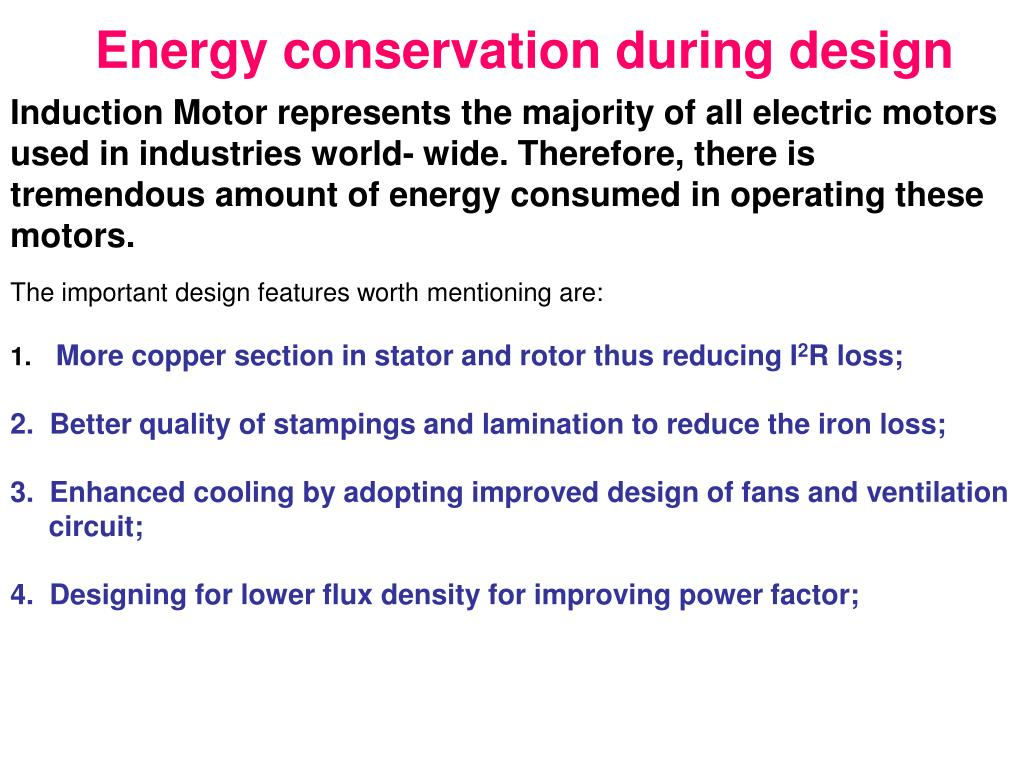 Energy conservation during design