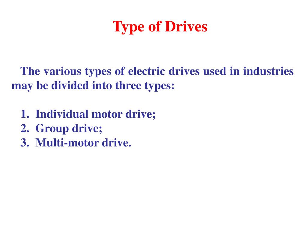 Type of Drives