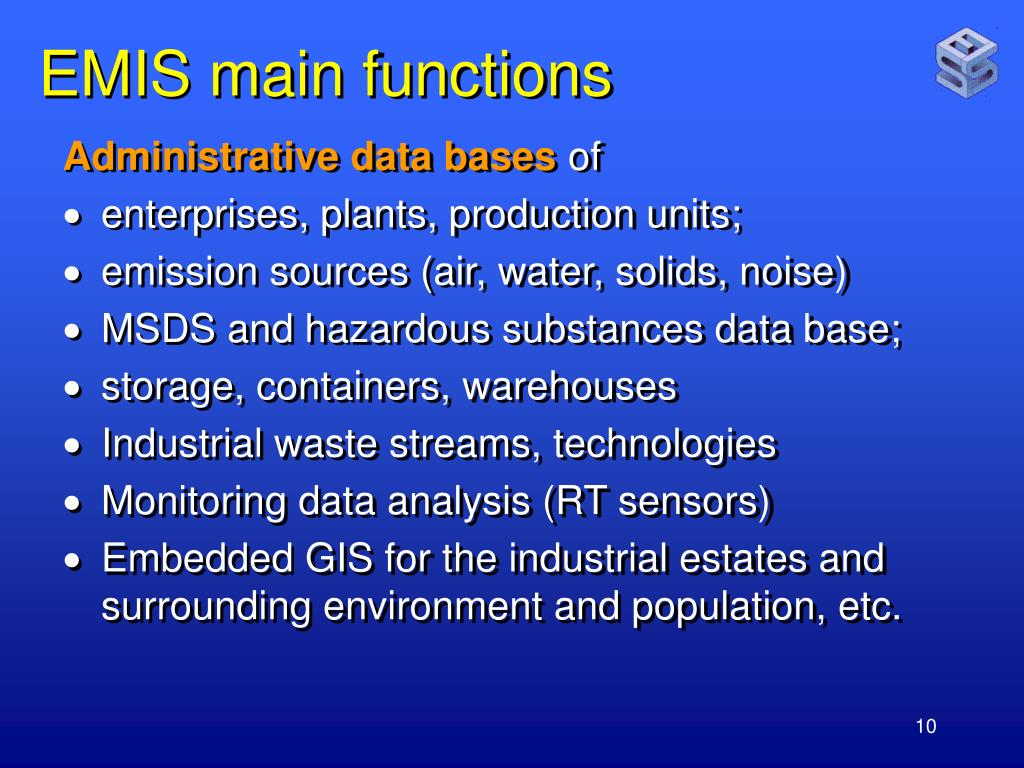 EMIS main functions