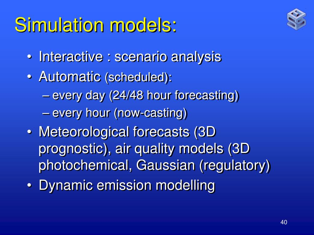 Simulation models: