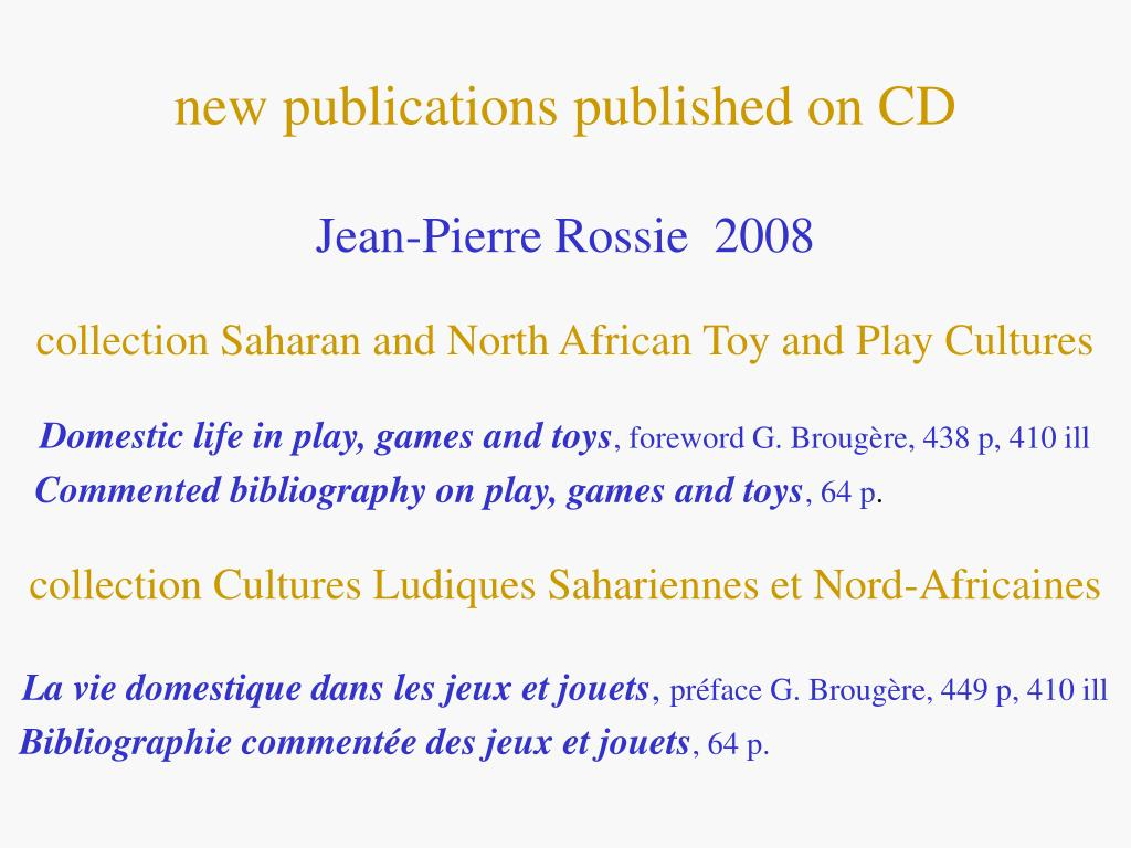 new publications published on CD