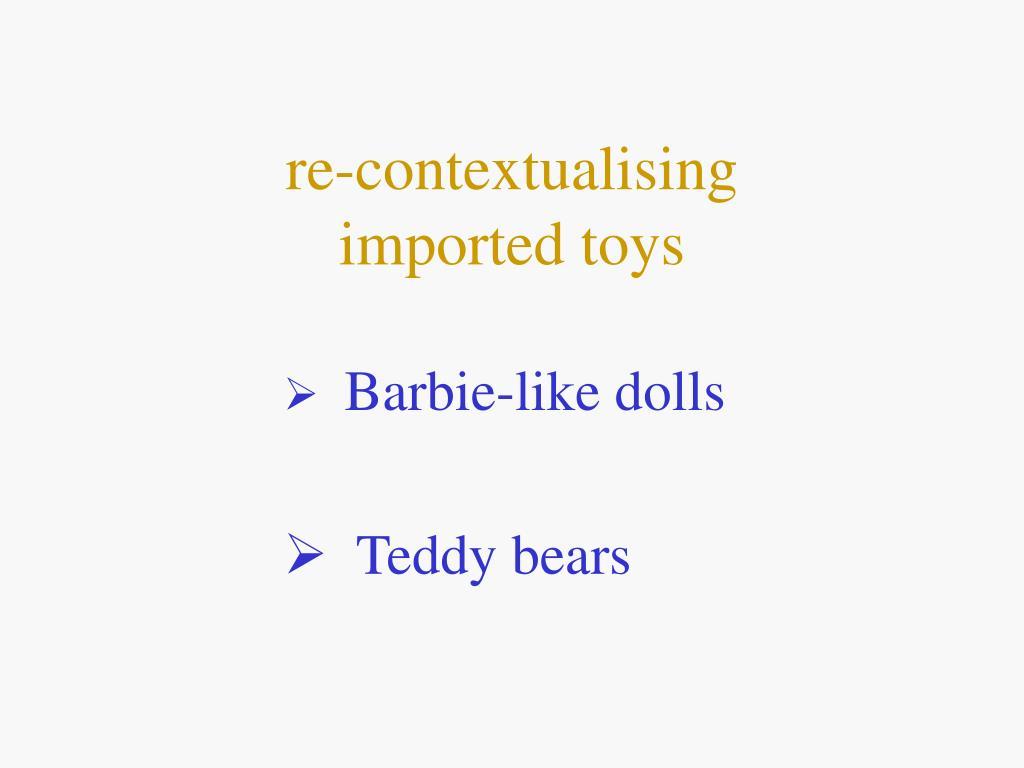 re-contextualising