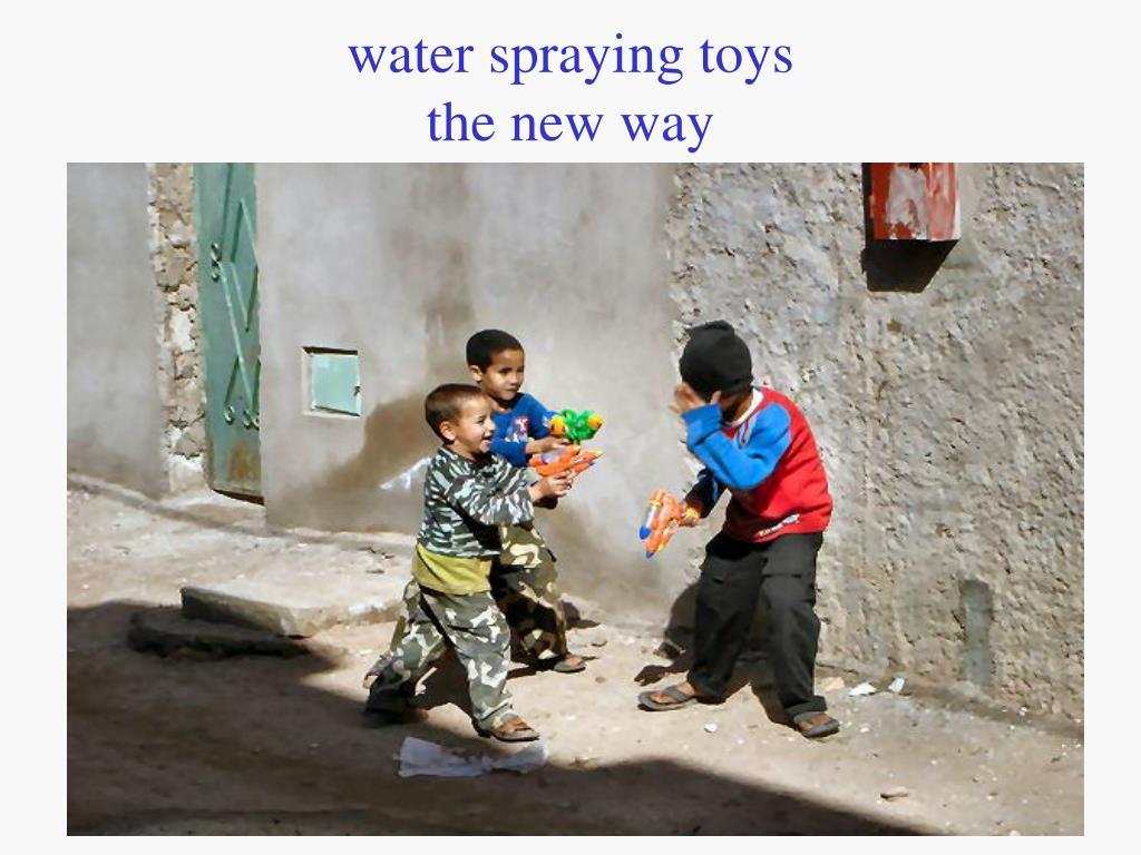 water spraying toys