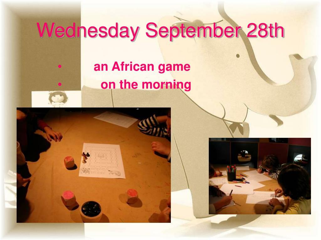 Wednesday September 28th