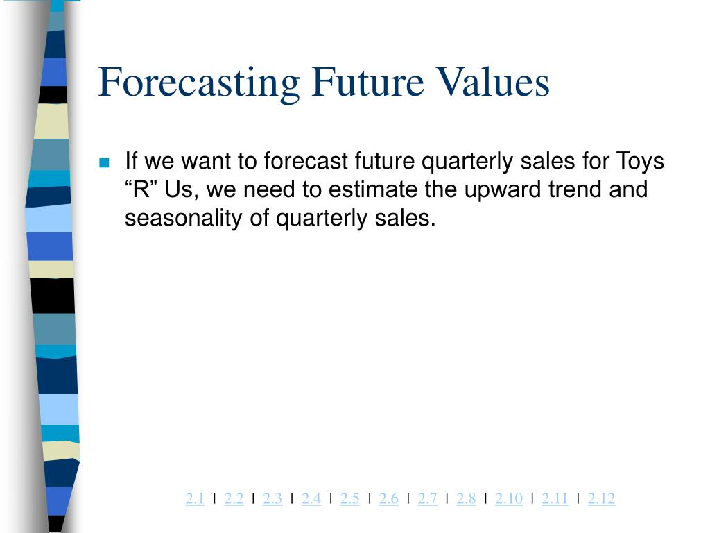 Forecasting Future Values