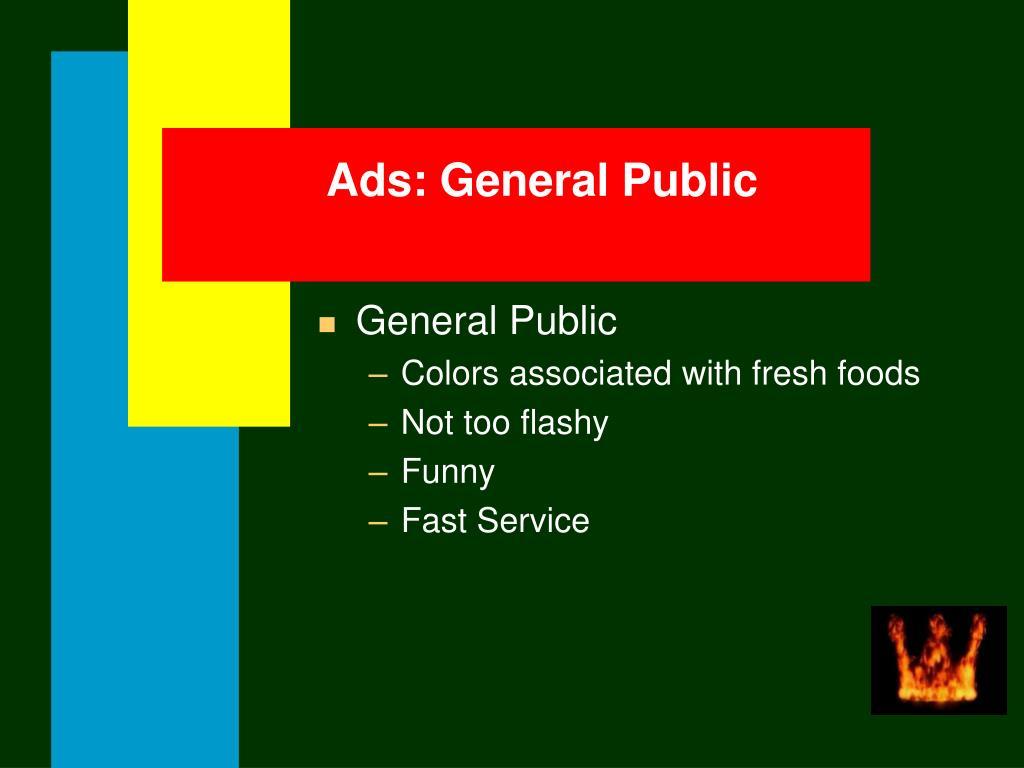 Ads: General Public