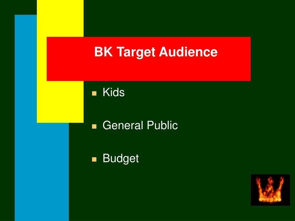 BK Target Audience