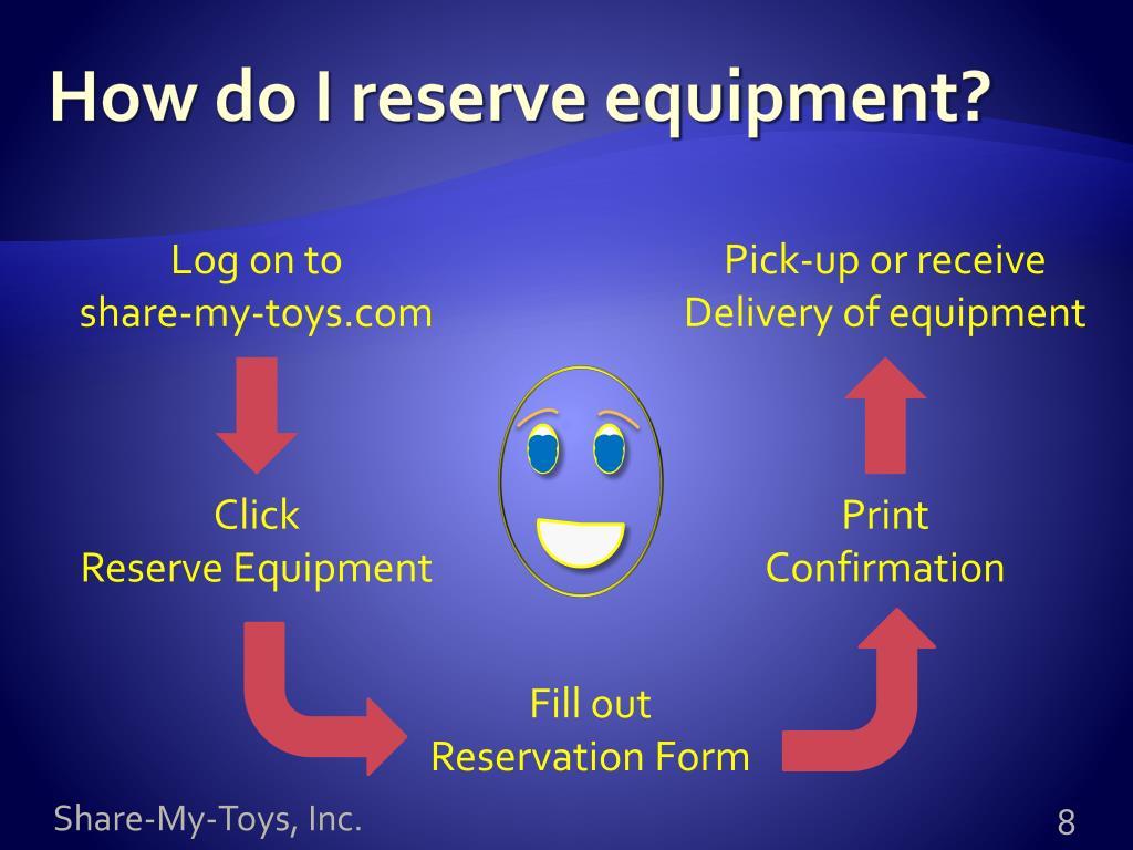 How do I reserve equipment?