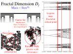 fractal dimension d f