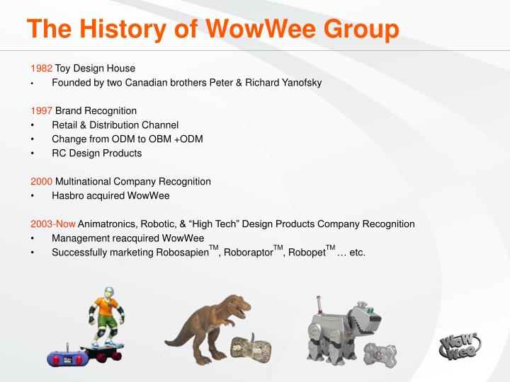 The History of WowWee Group