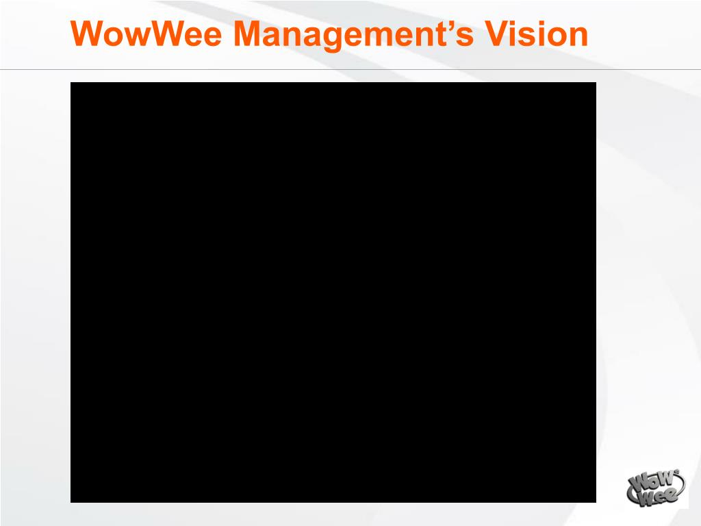 WowWee Management's Vision
