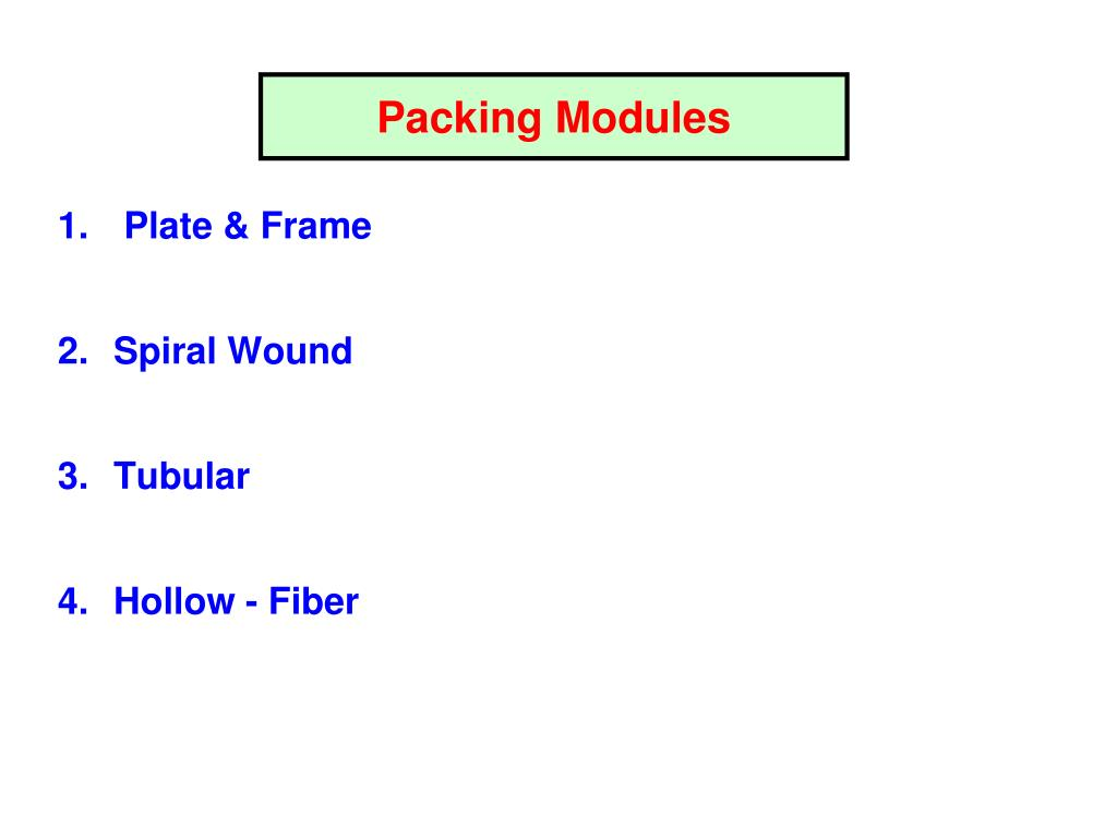 Packing Modules