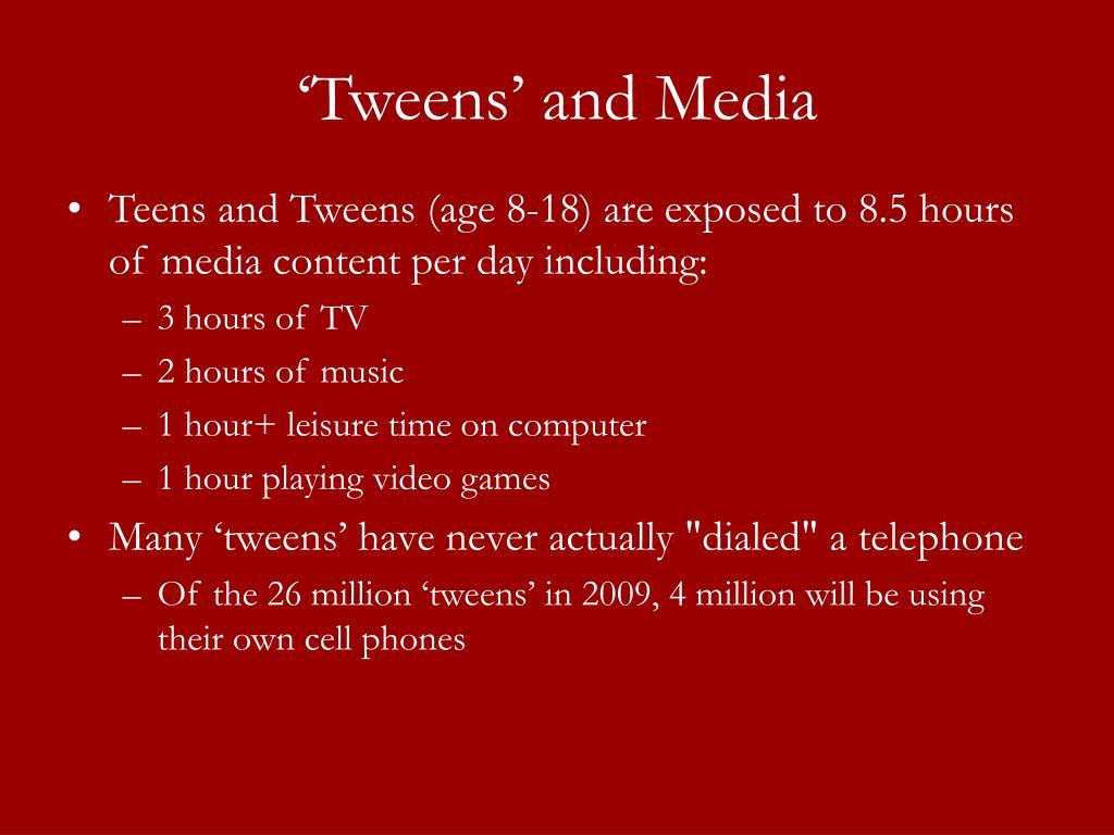 'Tweens' and Media