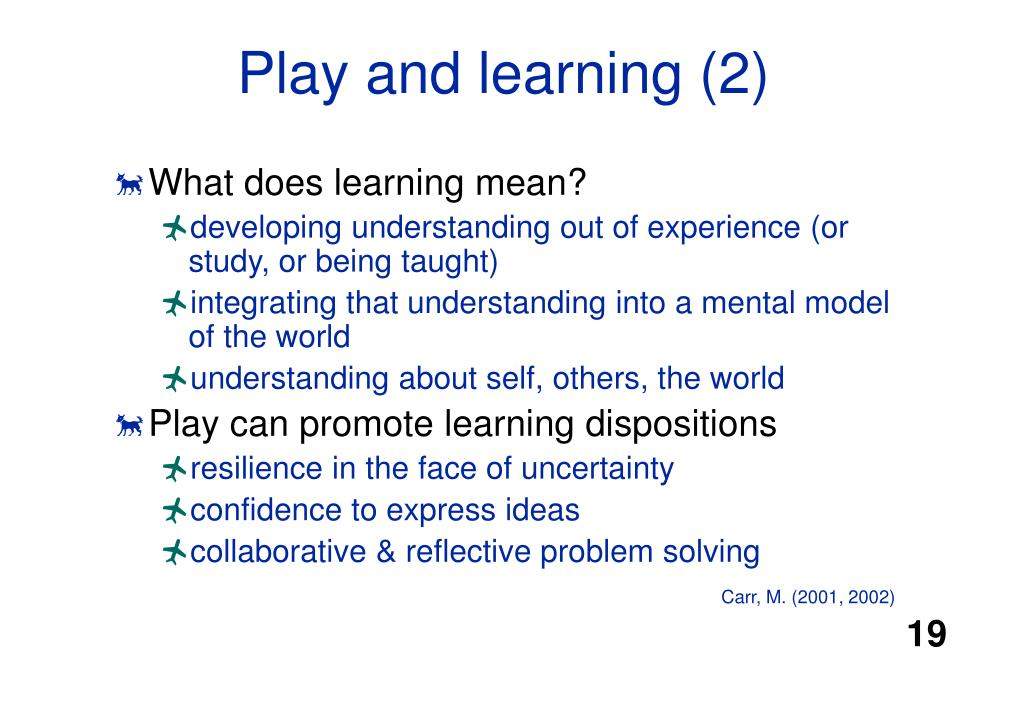 Play and learning (2)
