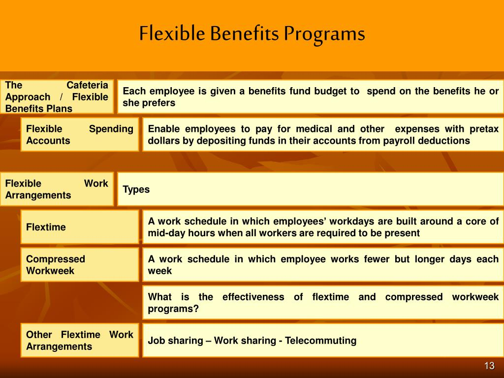 Flexible Benefits Programs