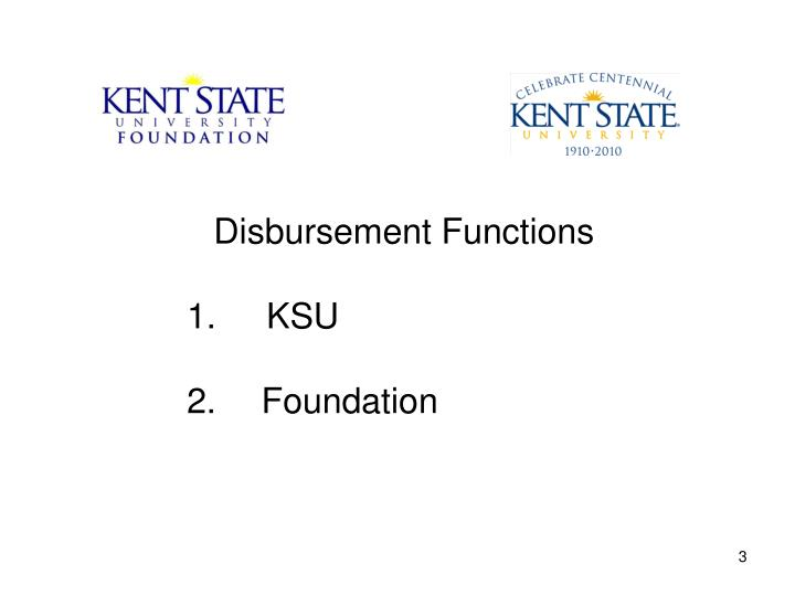 Disbursement Functions