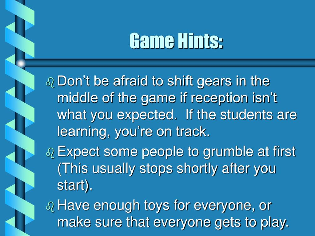 Game Hints: