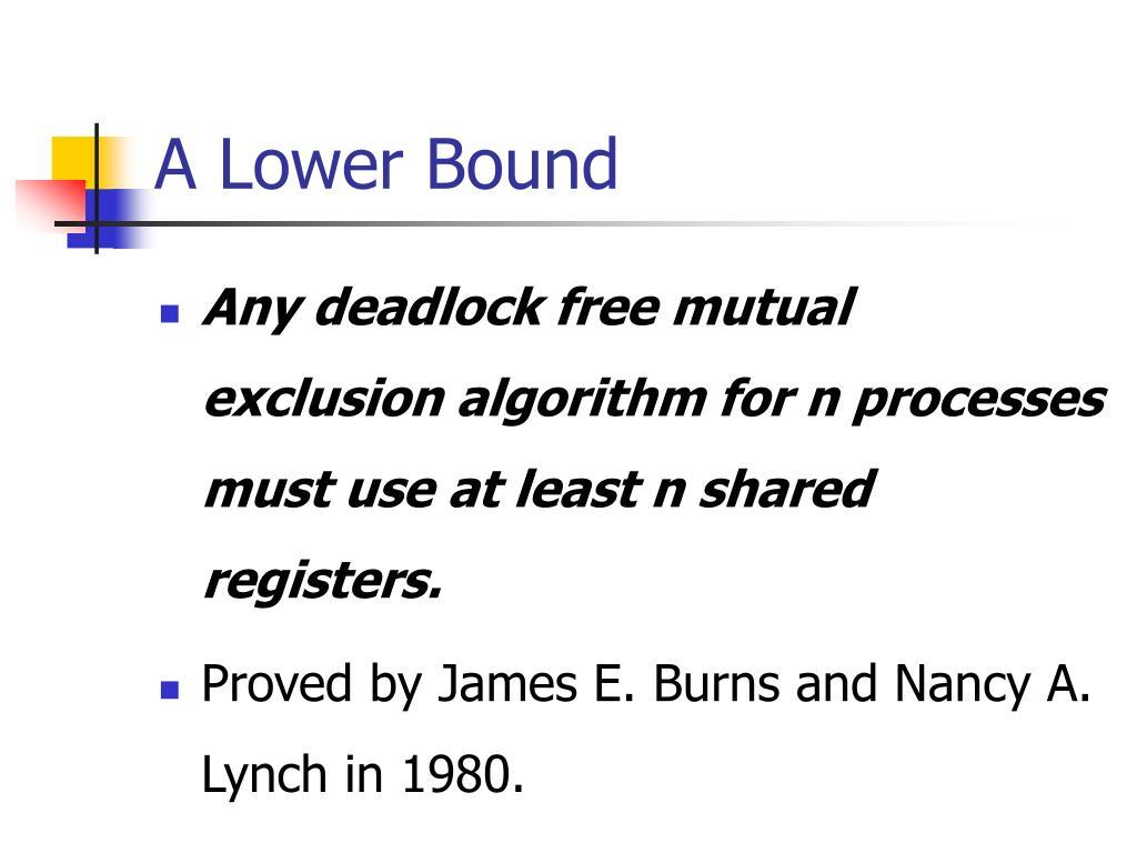 A Lower Bound