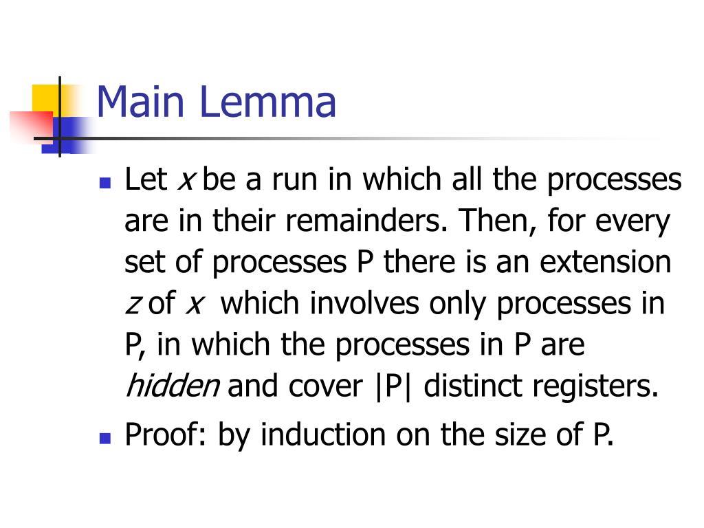 Main Lemma