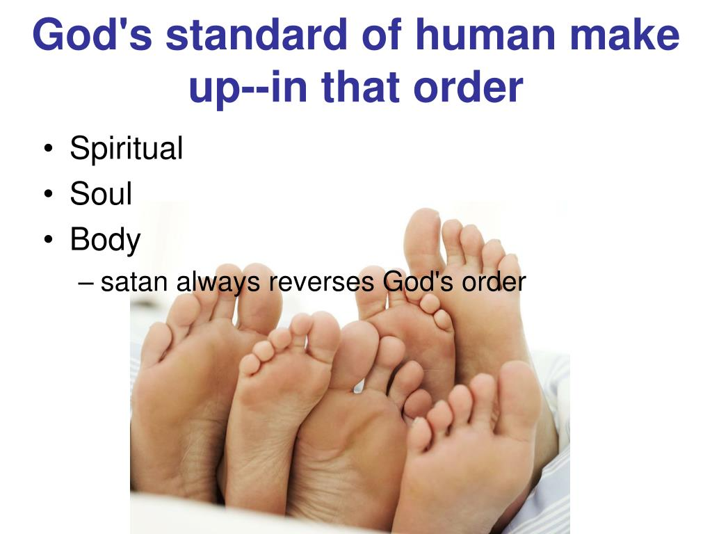 God's standard of human make up‑‑in that order