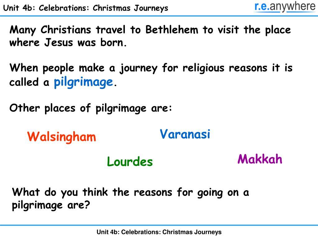 Unit 4b: Celebrations: Christmas Journeys