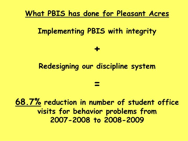 What PBIS has done for Pleasant Acres
