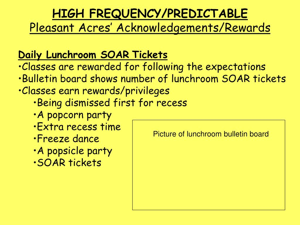 HIGH FREQUENCY/PREDICTABLE