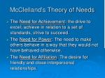 mcclelland s theory of needs